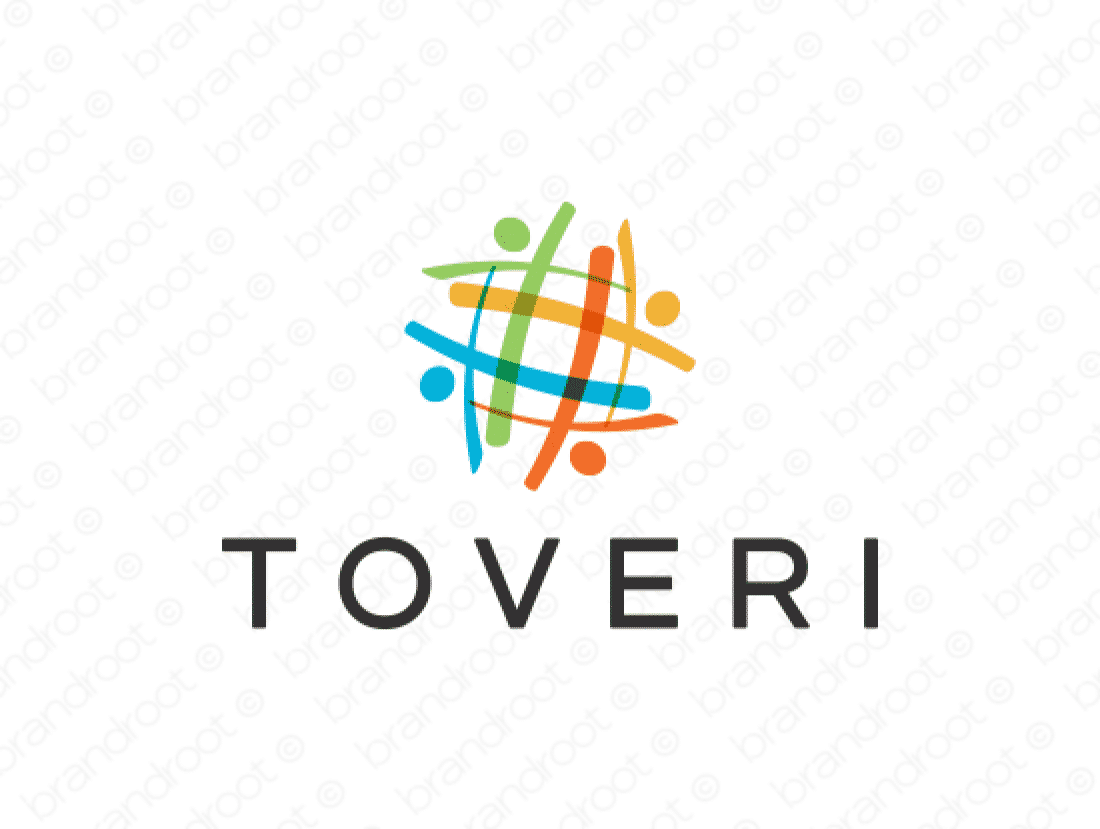 Toveri logo design included with business name and domain name, Toveri.com.