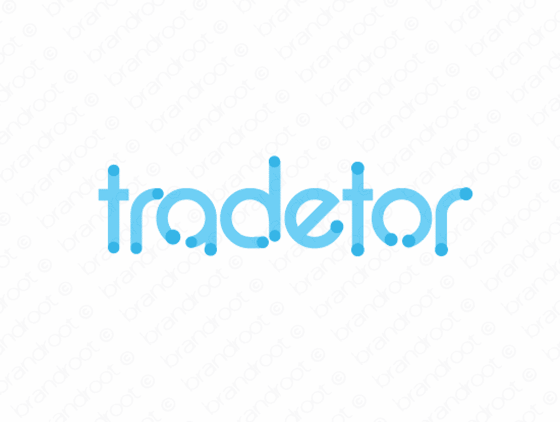 Tradetor logo design included with business name and domain name, Tradetor.com.