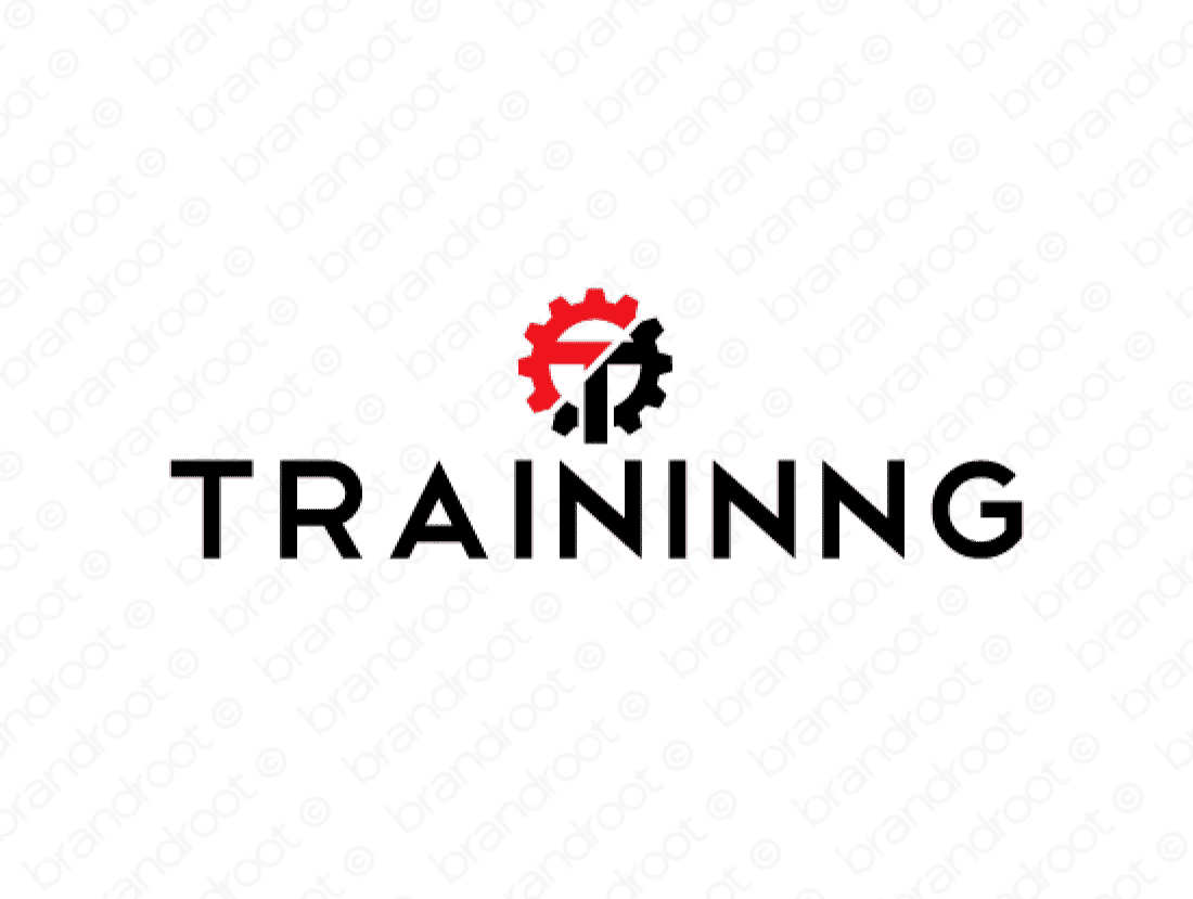 Traininng logo design included with business name and domain name, Traininng.com.