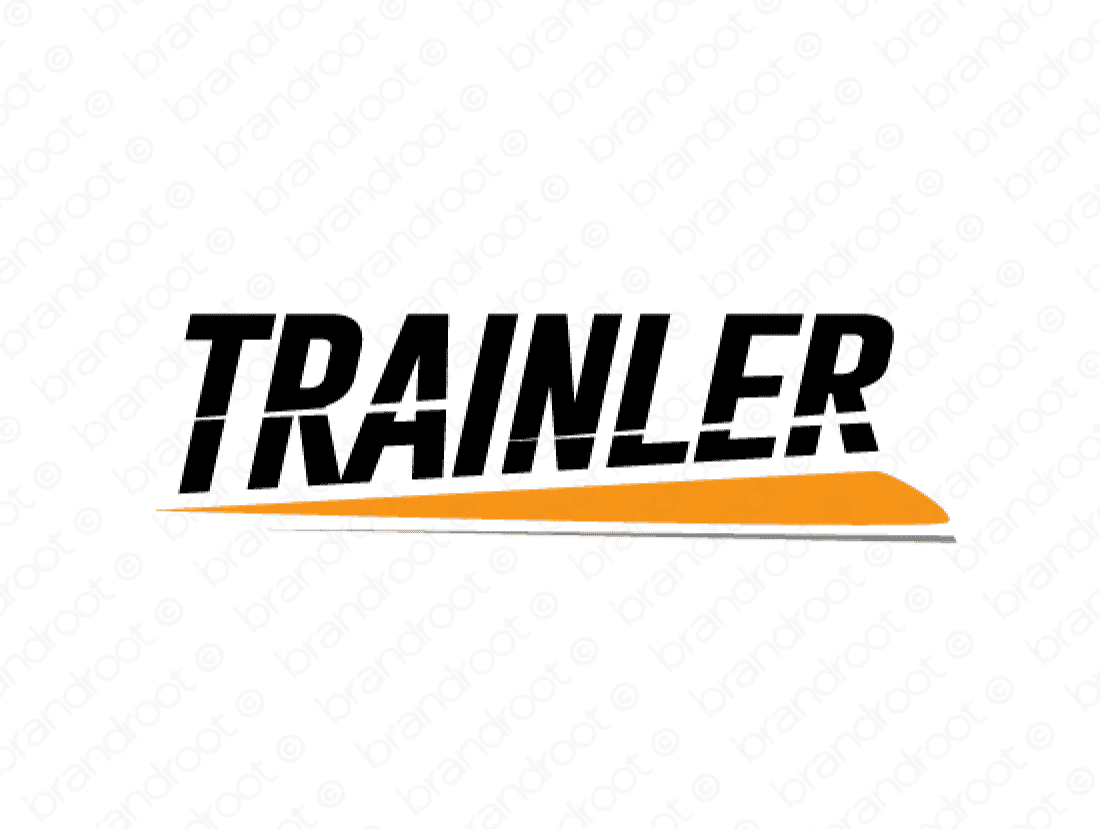 Trainler logo design included with business name and domain name, Trainler.com.