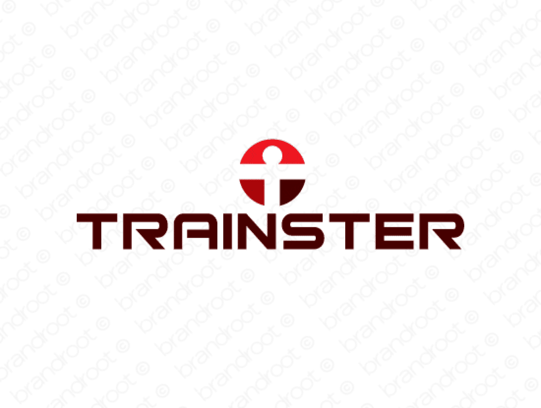 Trainster logo design included with business name and domain name, Trainster.com.