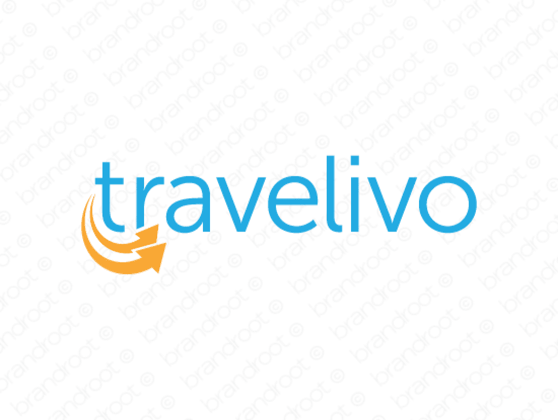 Travelivo logo design included with business name and domain name, Travelivo.com.