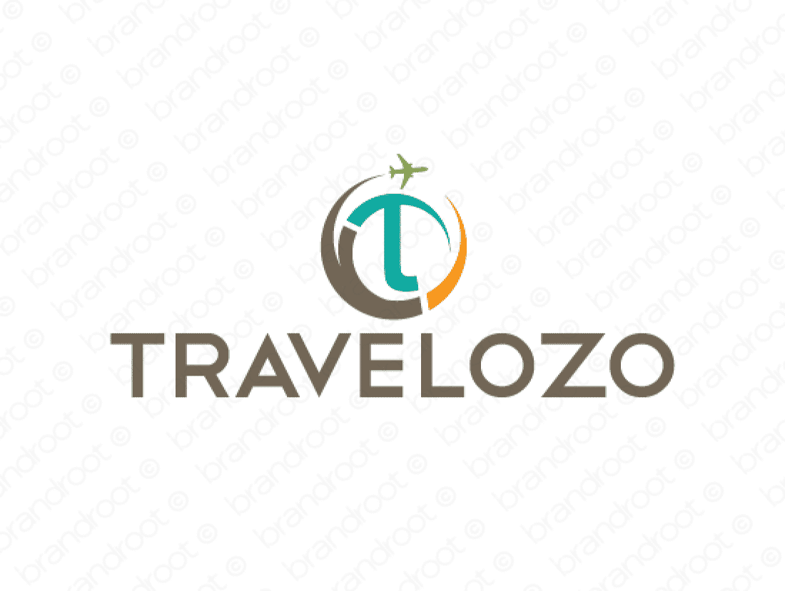 Travelozo logo design included with business name and domain name, Travelozo.com.