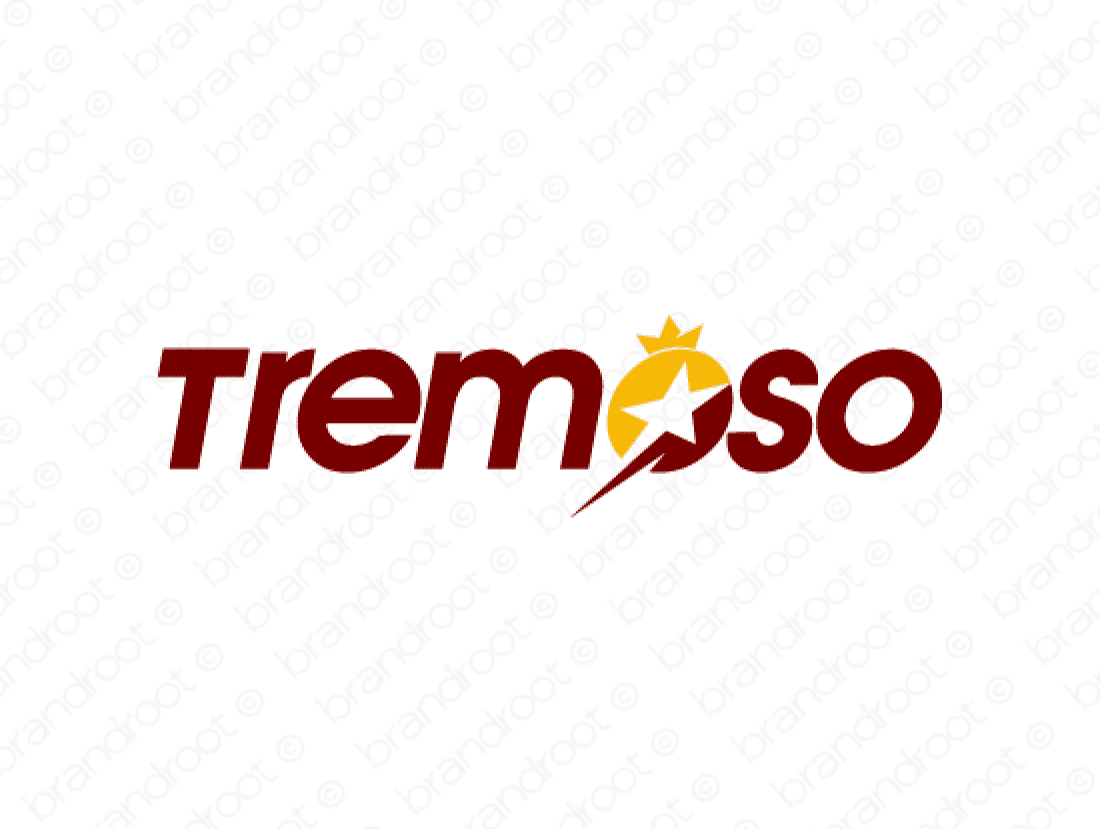 Tremoso logo design included with business name and domain name, Tremoso.com.