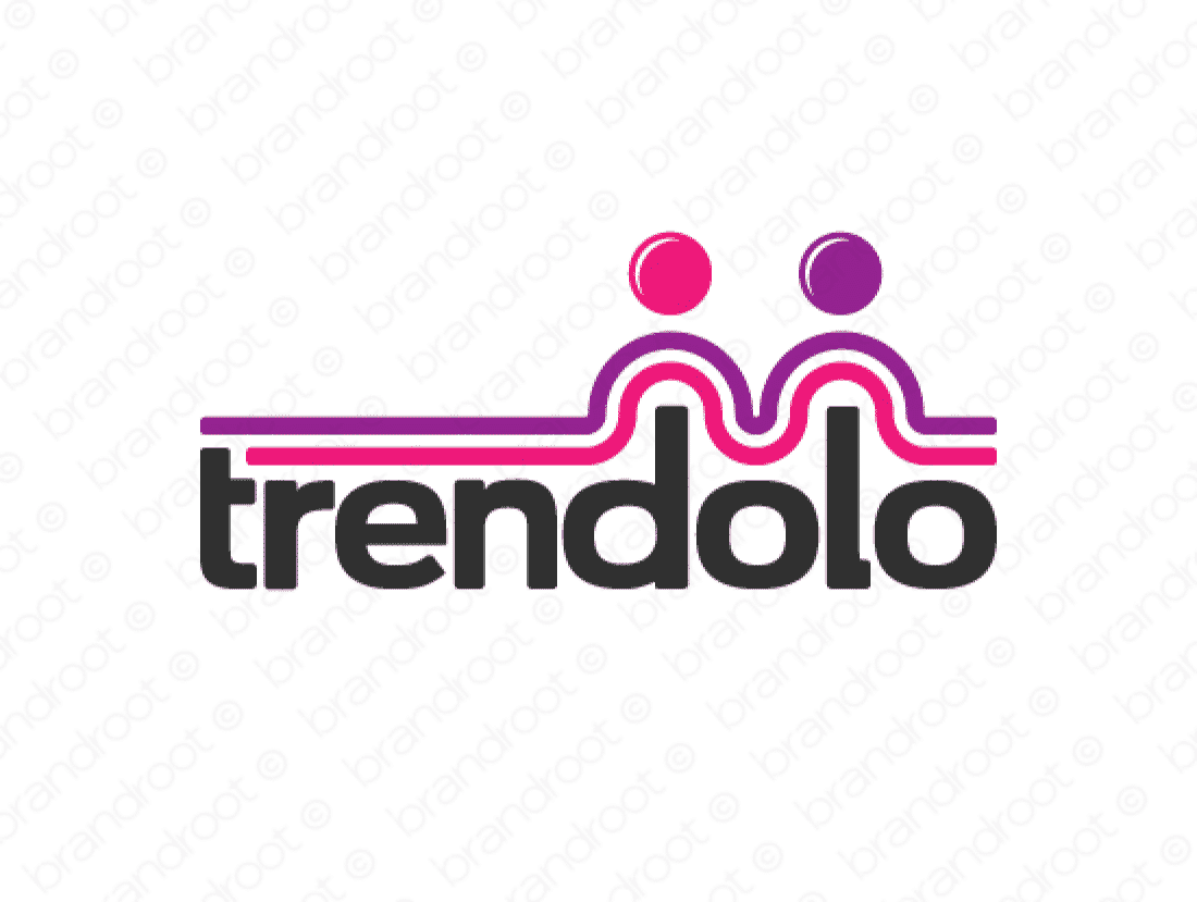 Trendolo logo design included with business name and domain name, Trendolo.com.