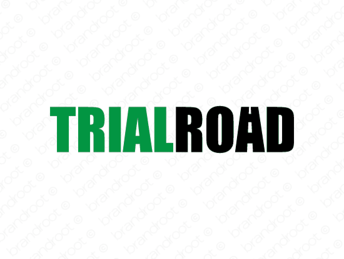 Trialroad logo design included with business name and domain name, Trialroad.com.