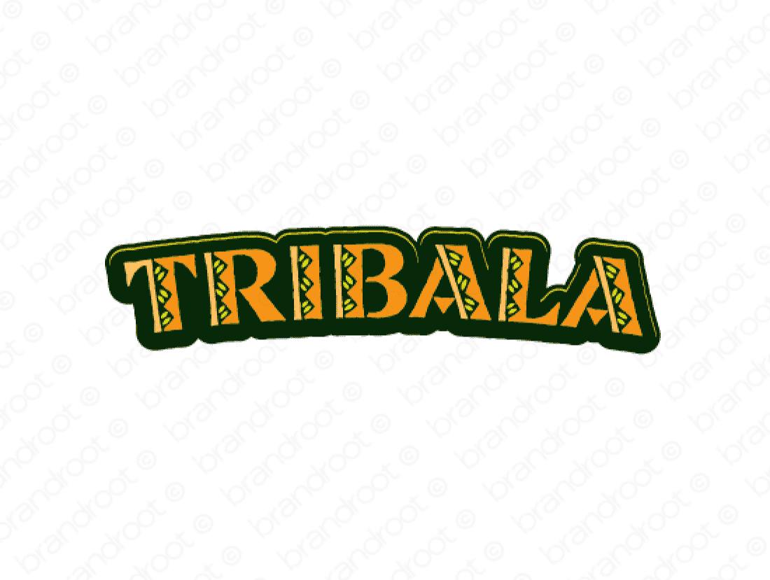 Tribala logo design included with business name and domain name, Tribala.com.