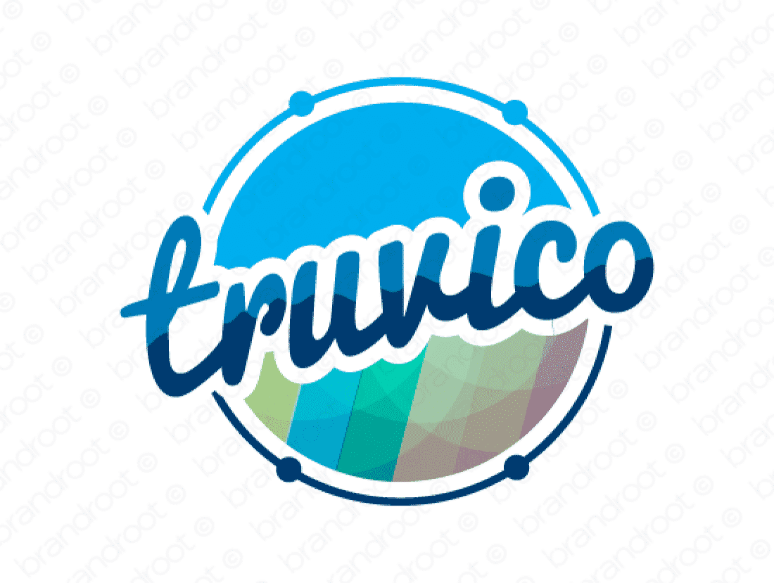 Truvico logo design included with business name and domain name, Truvico.com.