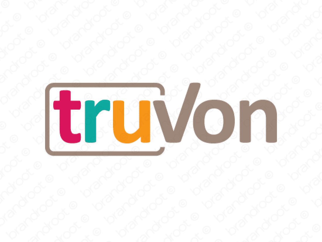 Truvon logo design included with business name and domain name, Truvon.com.