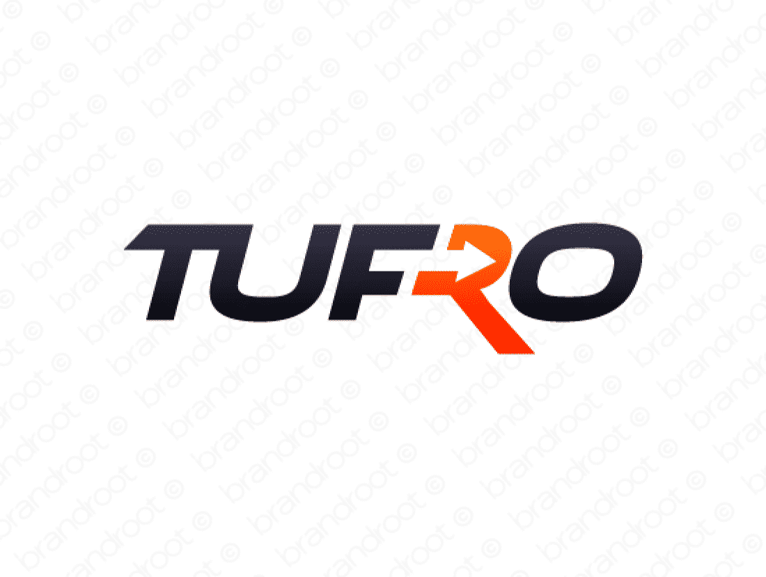Tufro logo design included with business name and domain name, Tufro.com.