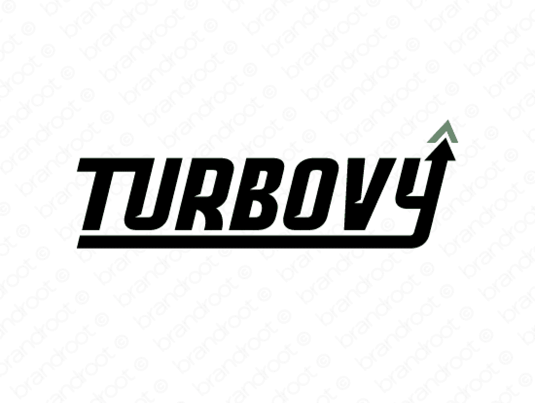 Turbovy logo design included with business name and domain name, Turbovy.com.