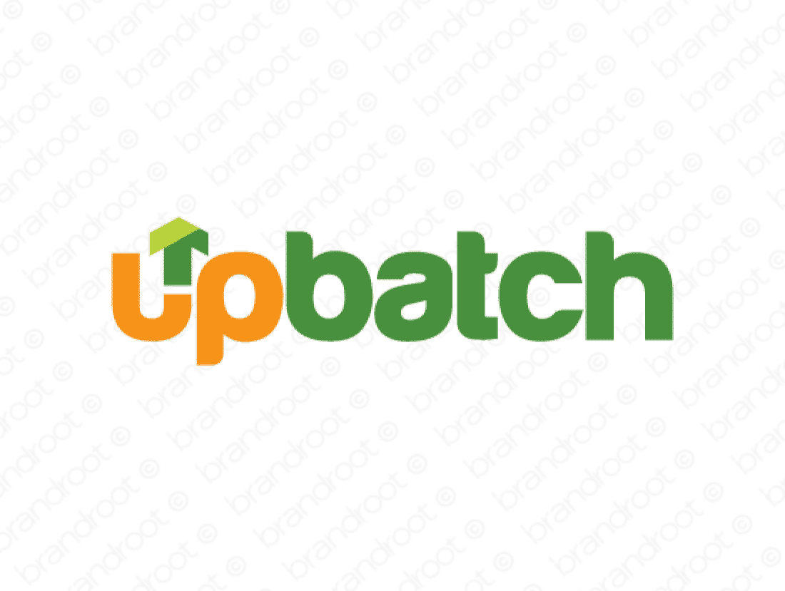 Upbatch logo design included with business name and domain name, Upbatch.com.