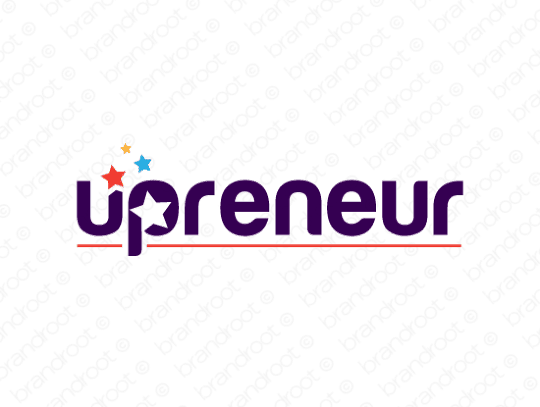 Upreneur logo design included with business name and domain name, Upreneur.com.