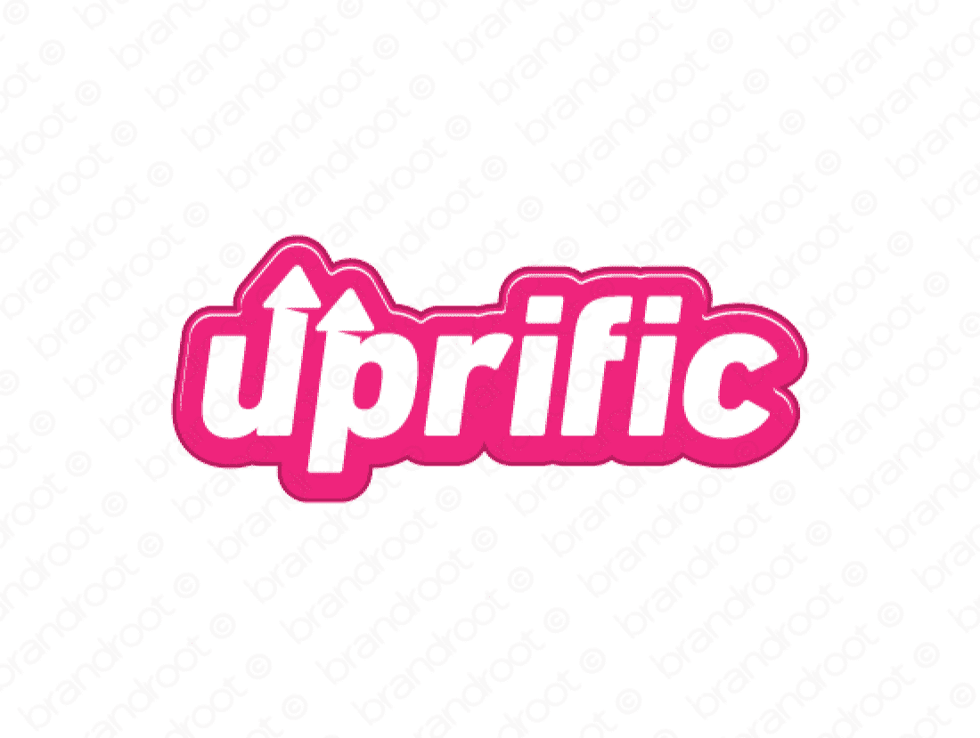 Uprific logo design included with business name and domain name, Uprific.com.