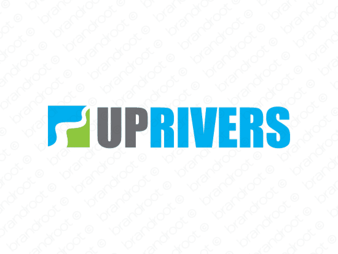 Uprivers logo design included with business name and domain name, Uprivers.com.