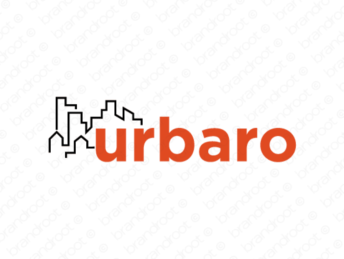 Urbaro logo design included with business name and domain name, Urbaro.com.