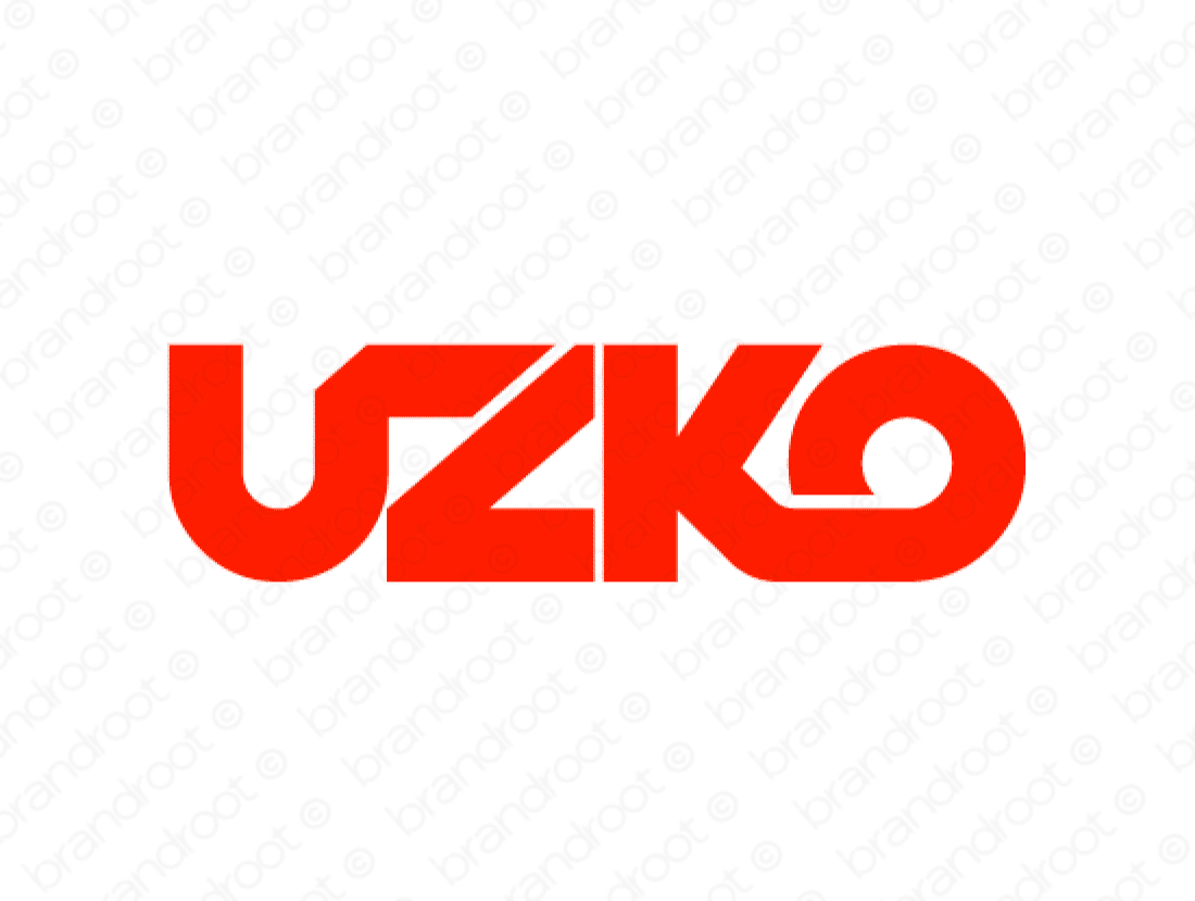 Uzko logo design included with business name and domain name, Uzko.com.
