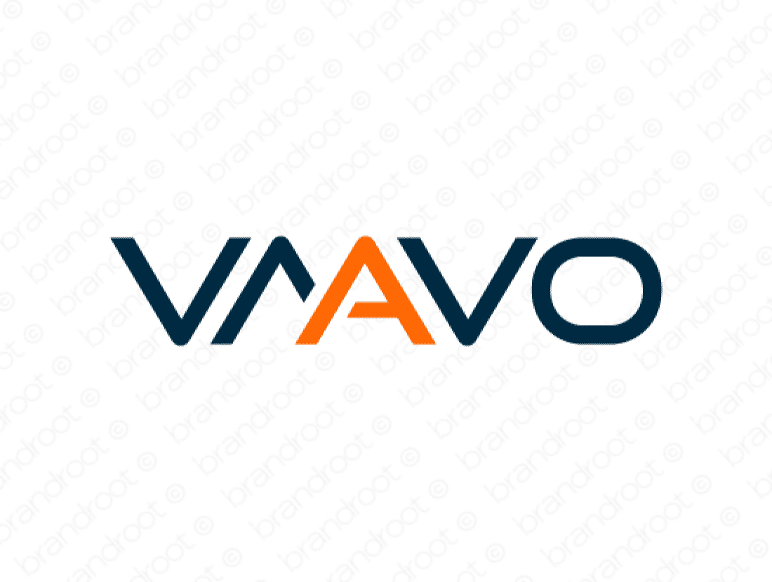 Vaavo logo design included with business name and domain name, Vaavo.com.