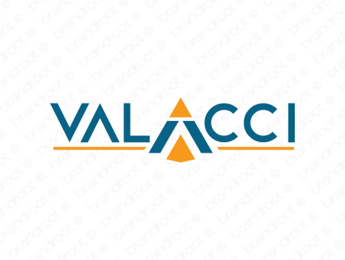 Valacci logo design included with business name and domain name, Valacci.com.