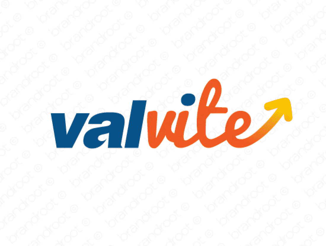 Valvite logo design included with business name and domain name, Valvite.com.