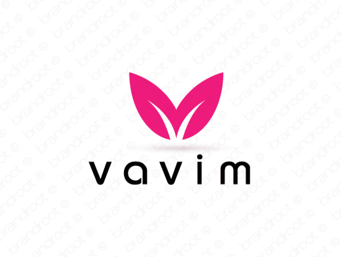 Vavim logo design included with business name and domain name, Vavim.com.