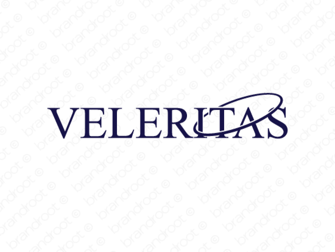 Veleritas logo design included with business name and domain name, Veleritas.com.