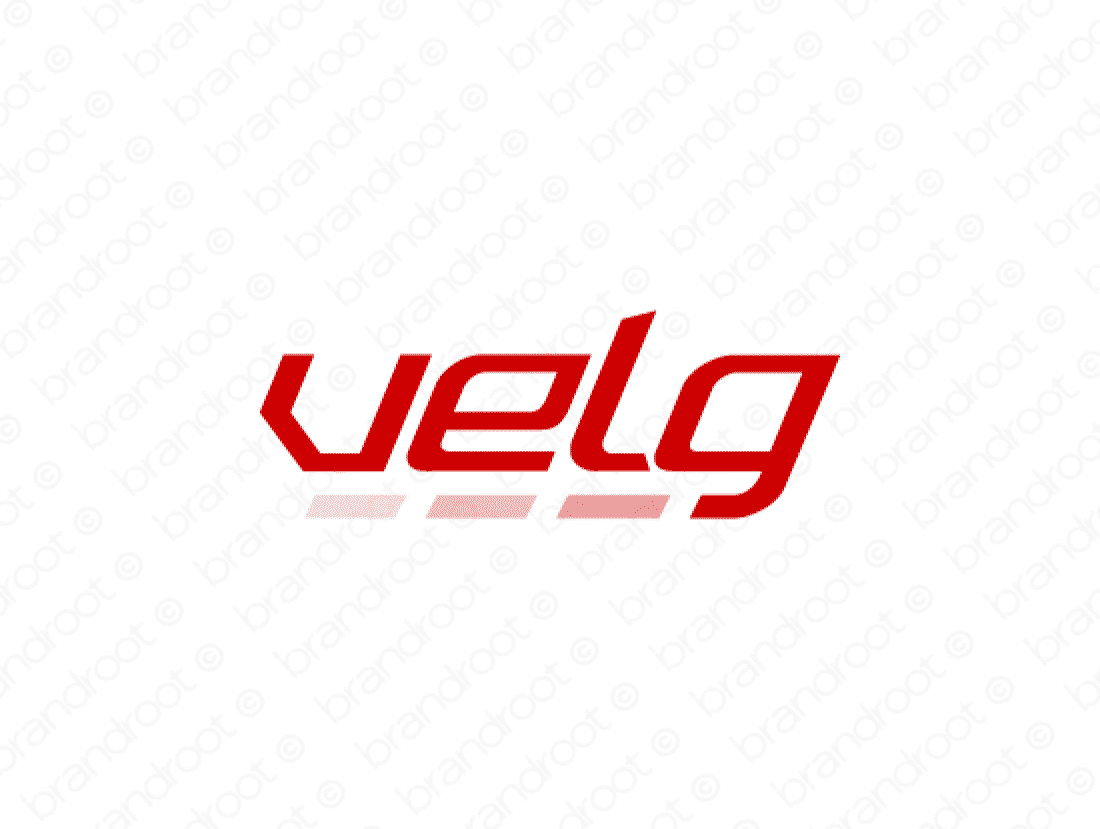 Velg logo design included with business name and domain name, Velg.com.