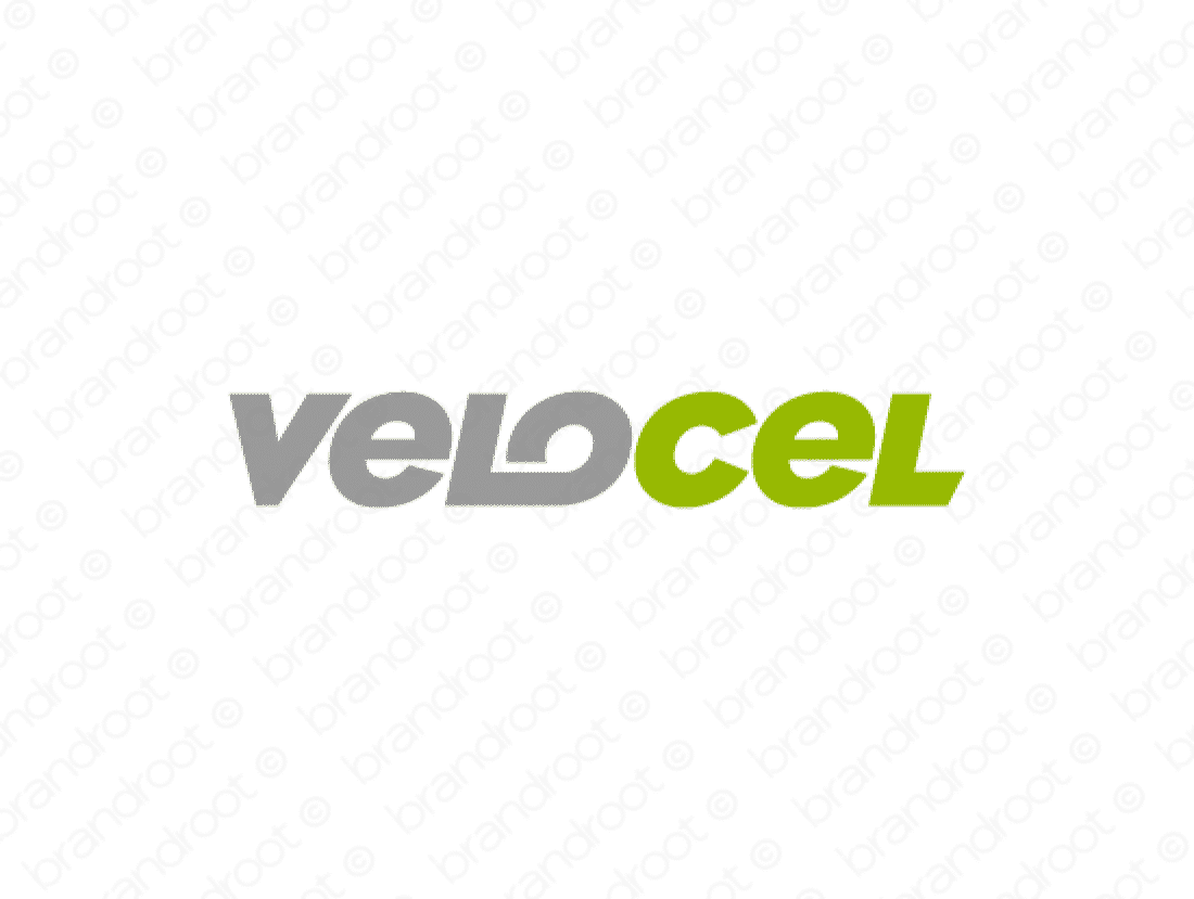 Velocel logo design included with business name and domain name, Velocel.com.