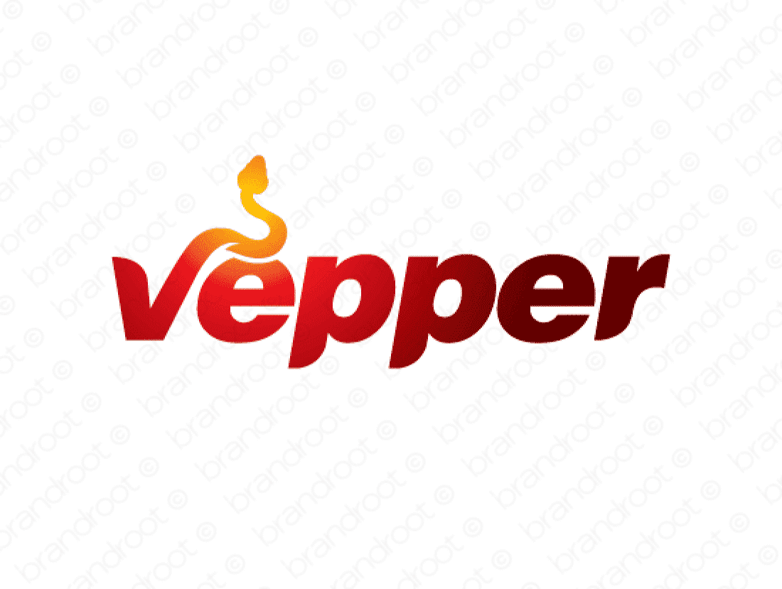 Vepper logo design included with business name and domain name, Vepper.com.