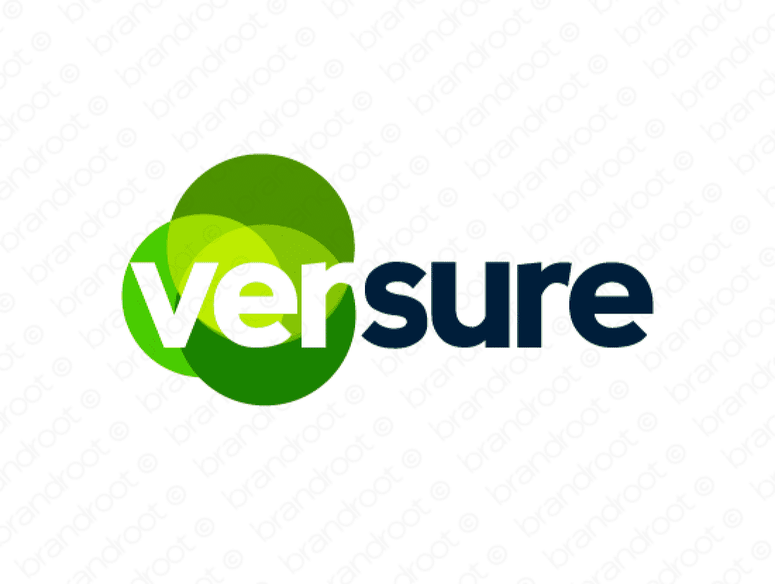 Versure logo design included with business name and domain name, Versure.com.