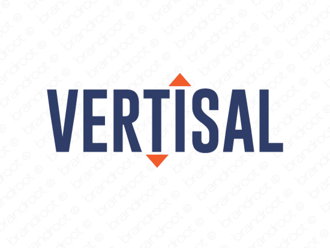 Vertisal logo design included with business name and domain name, Vertisal.com.