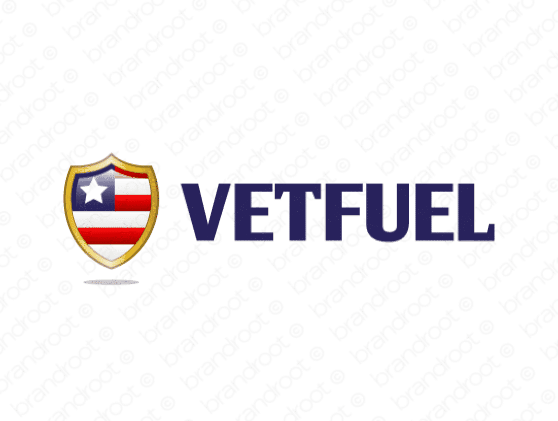 Vetfuel logo design included with business name and domain name, Vetfuel.com.