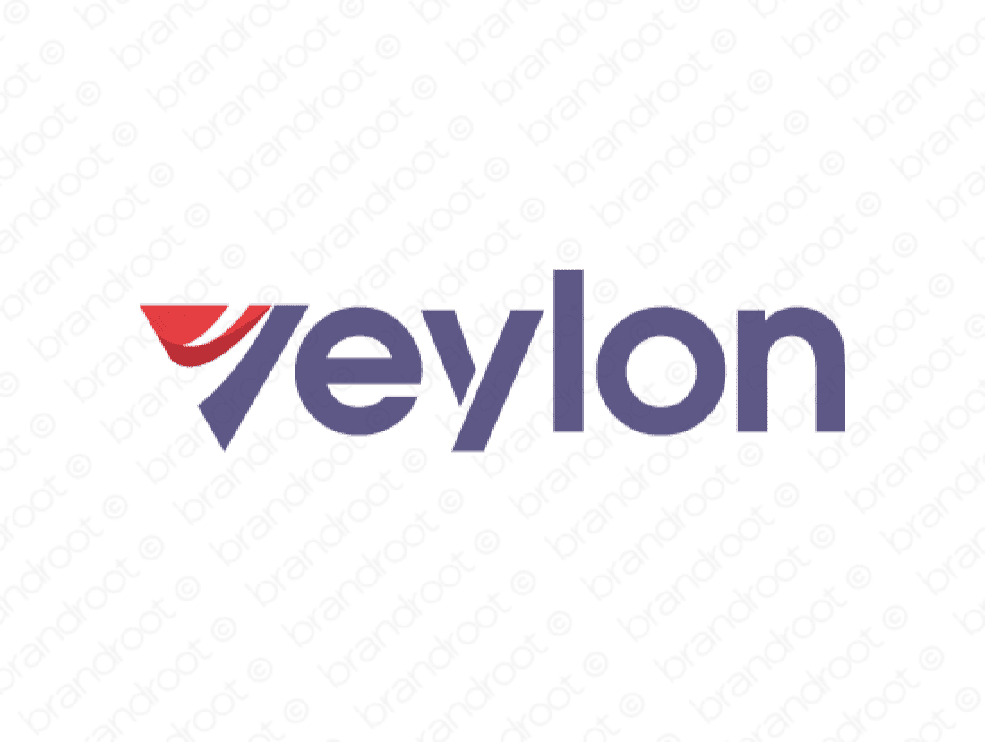 Veylon logo design included with business name and domain name, Veylon.com.
