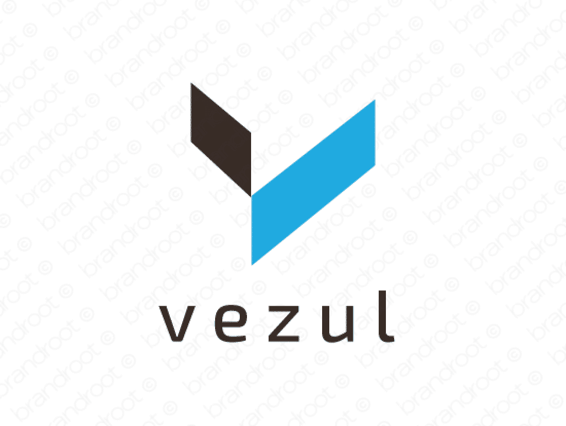 Vezul logo design included with business name and domain name, Vezul.com.