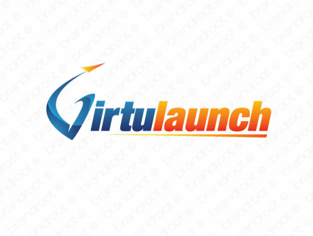 Virtulaunch logo design included with business name and domain name, Virtulaunch.com.