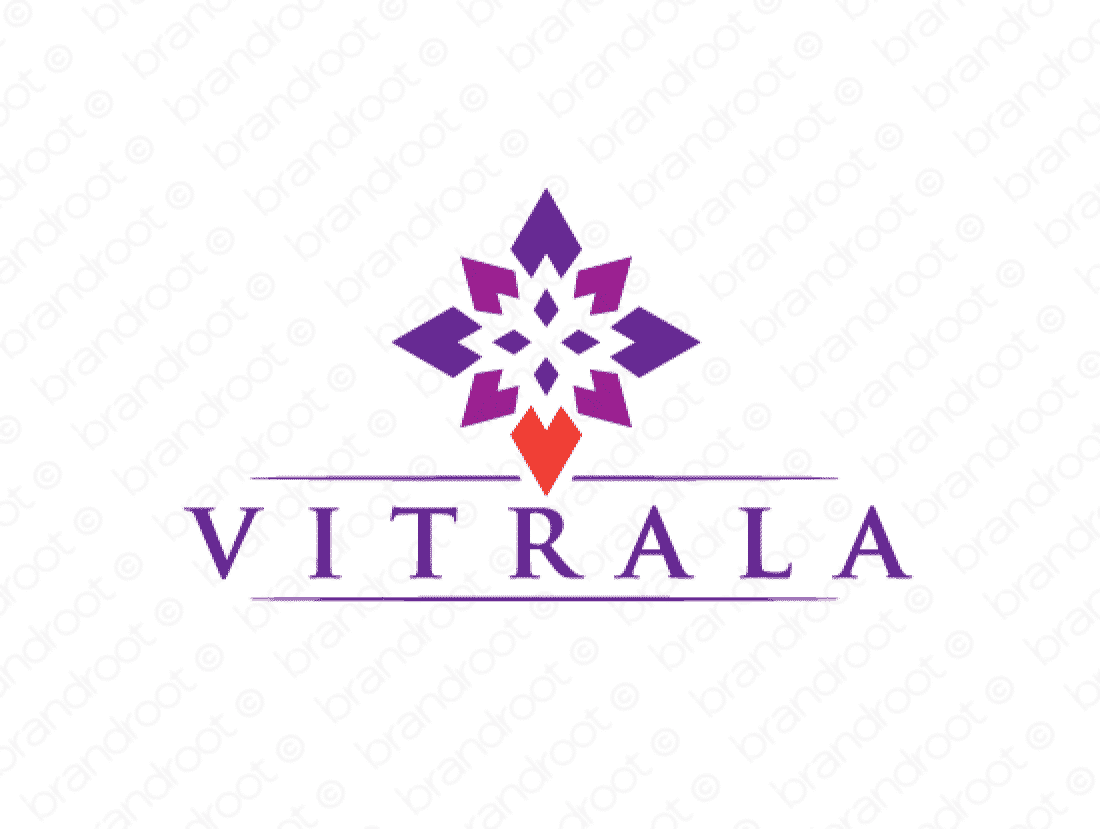 Vitrala logo design included with business name and domain name, Vitrala.com.