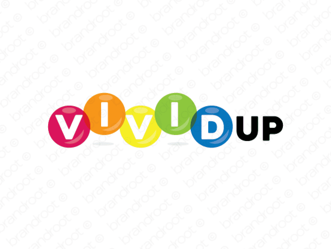 Vividup logo design included with business name and domain name, Vividup.com.