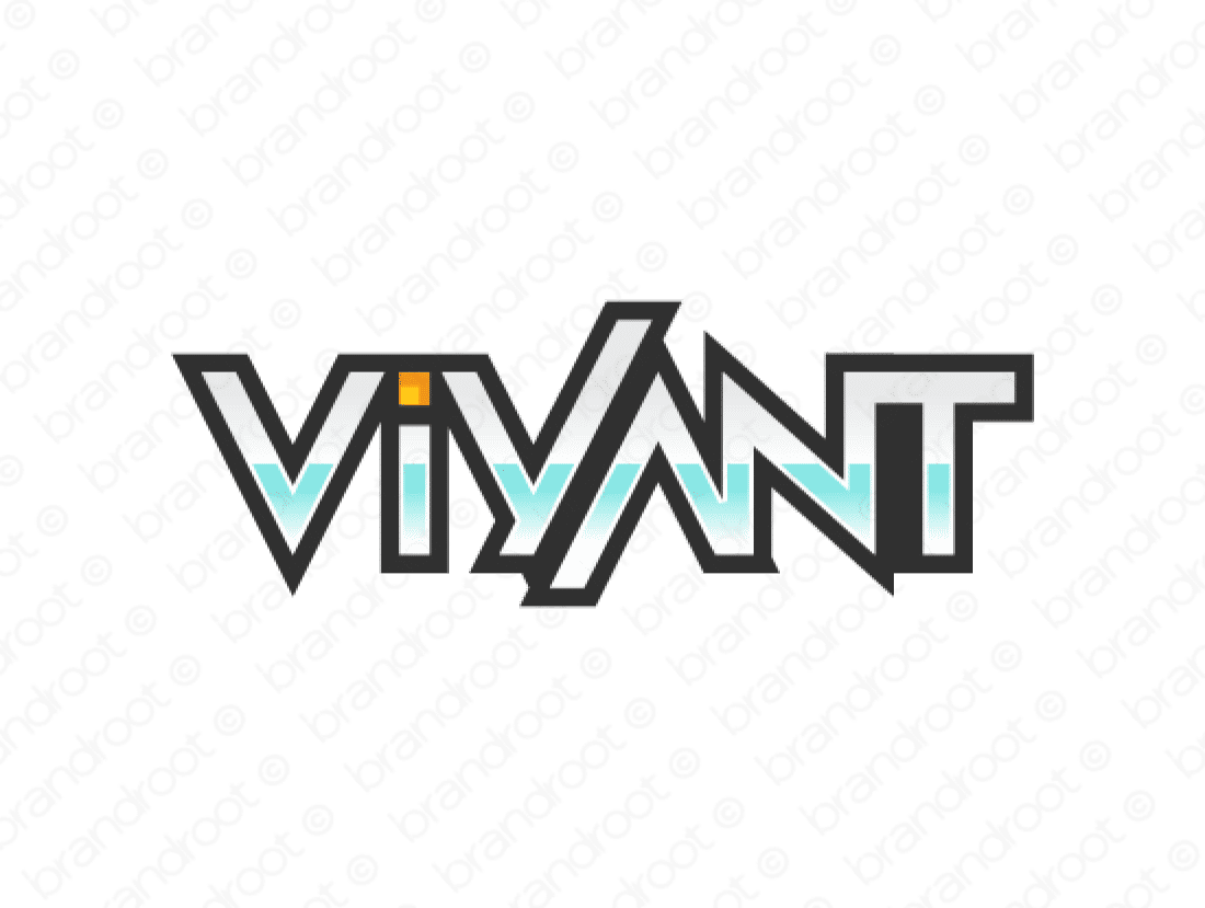 Viyant logo design included with business name and domain name, Viyant.com.