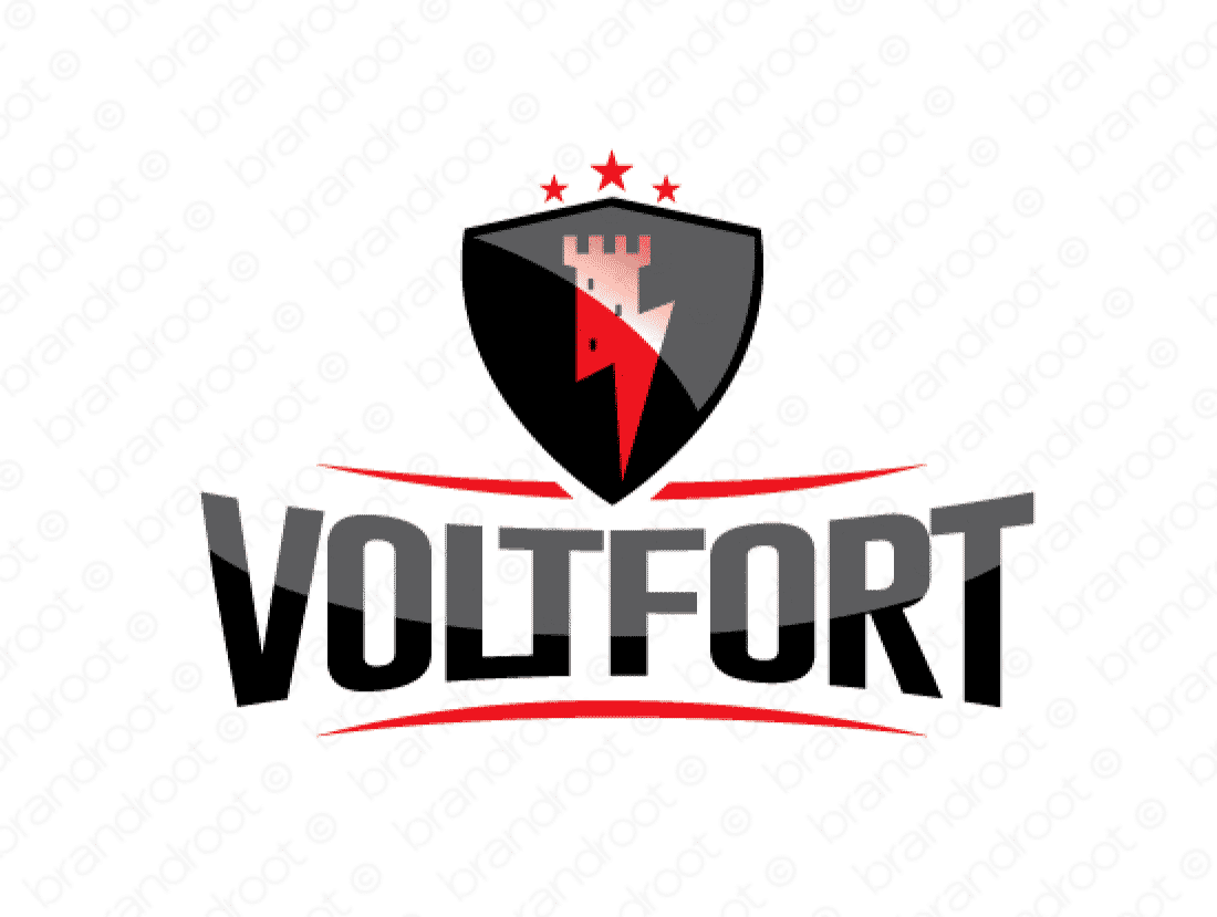 Voltfort logo design included with business name and domain name, Voltfort.com.