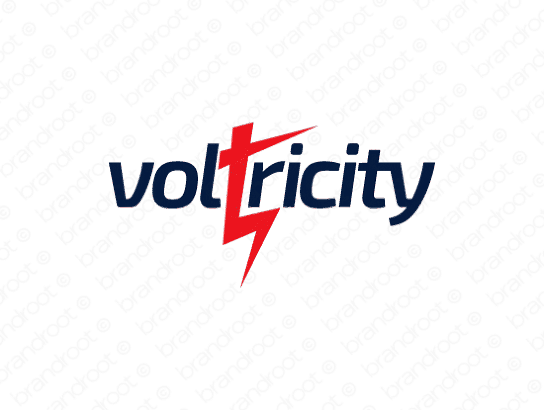 Voltricity logo design included with business name and domain name, Voltricity.com.