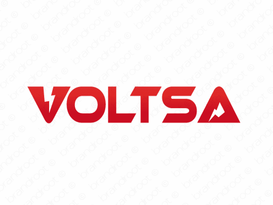 Voltsa logo design included with business name and domain name, Voltsa.com.
