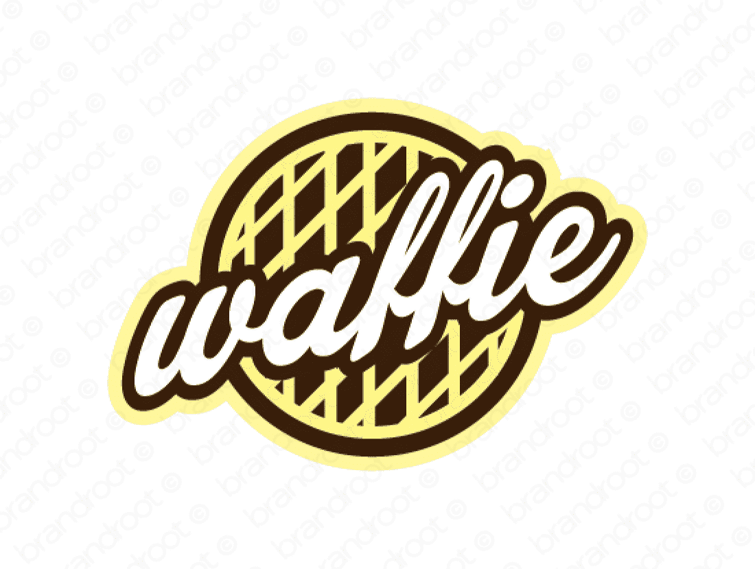Waffie logo design included with business name and domain name, Waffie.com.