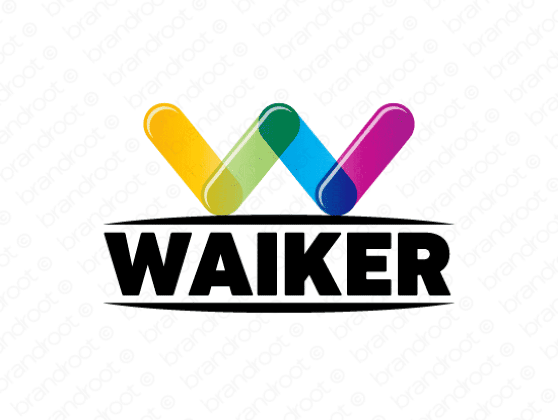 Waiker logo design included with business name and domain name, Waiker.com.