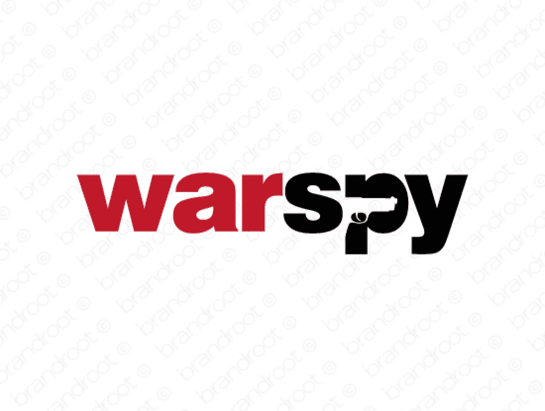 Warspy logo design included with business name and domain name, Warspy.com.