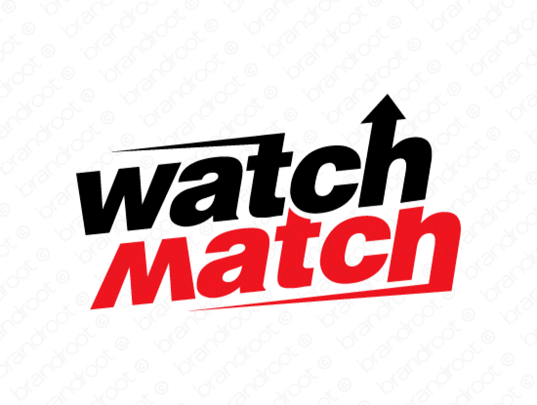 Watchmatch logo design included with business name and domain name, Watchmatch.com.
