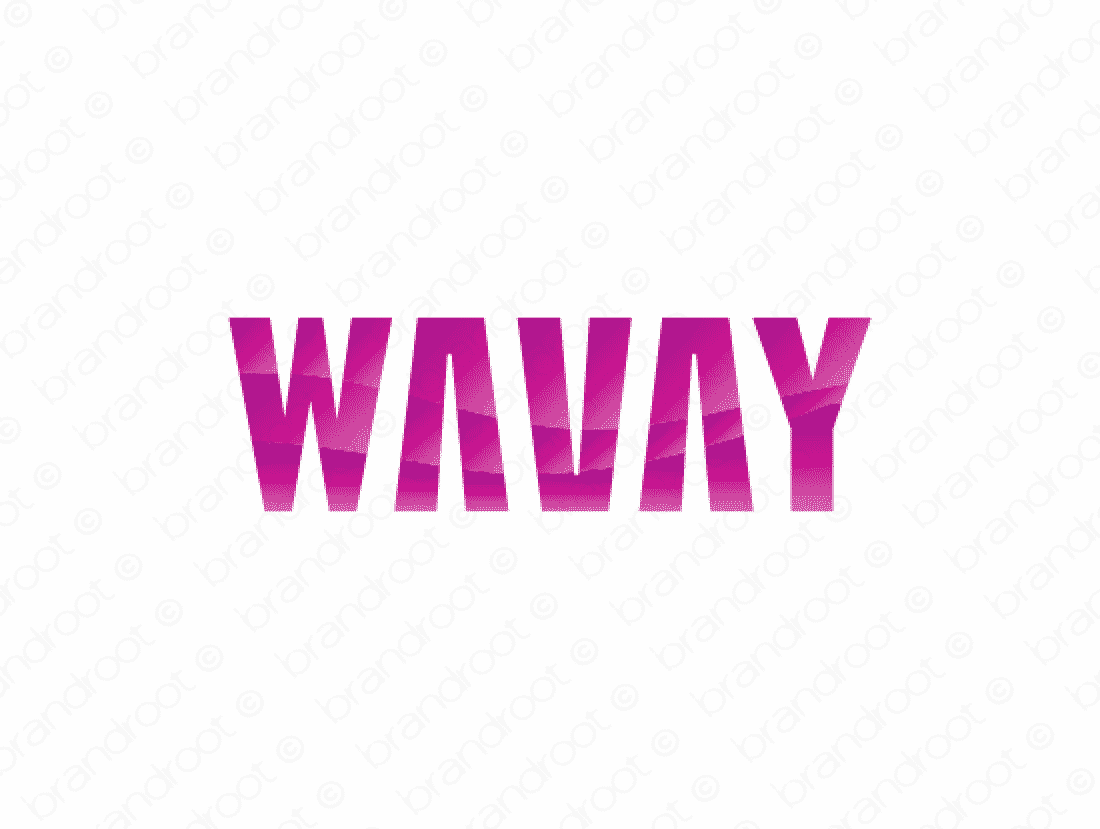 Wavay logo design included with business name and domain name, Wavay.com.