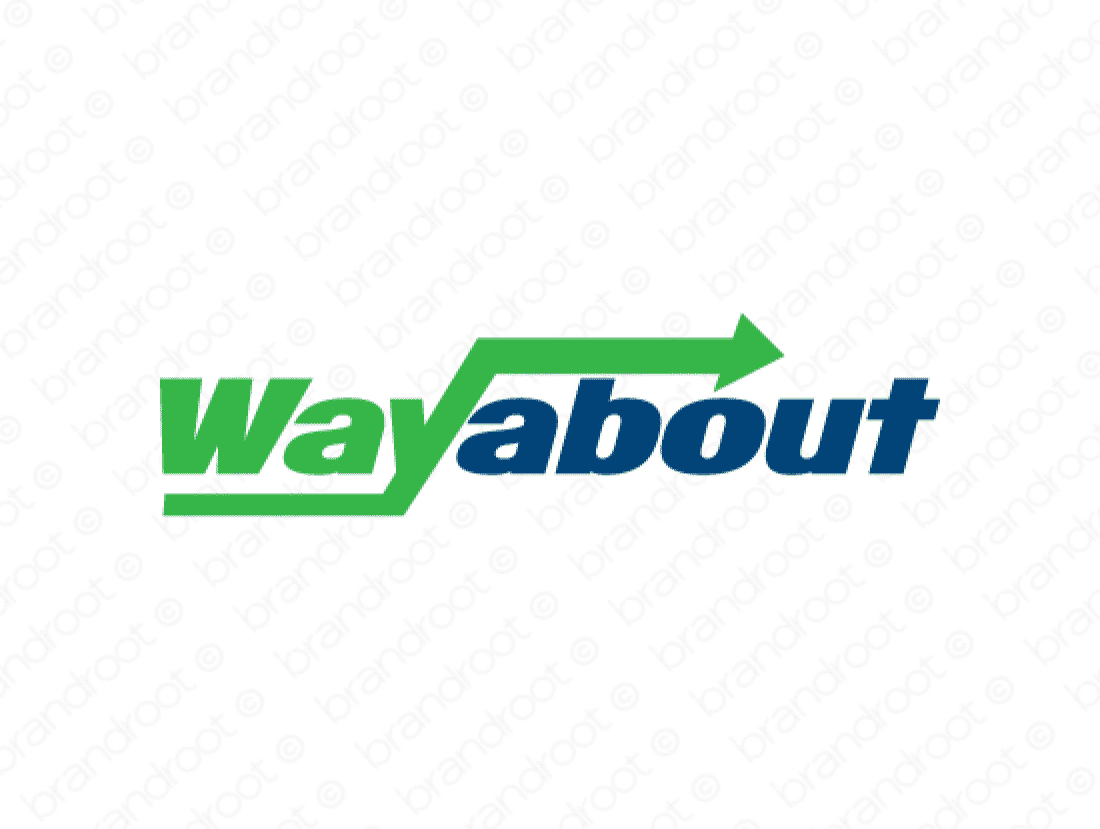 Wayabout logo design included with business name and domain name, Wayabout.com.
