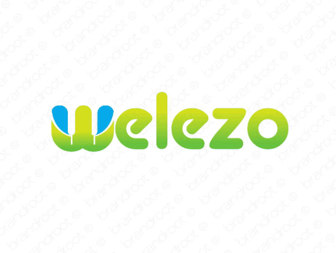 Welezo logo design included with business name and domain name, Welezo.com.