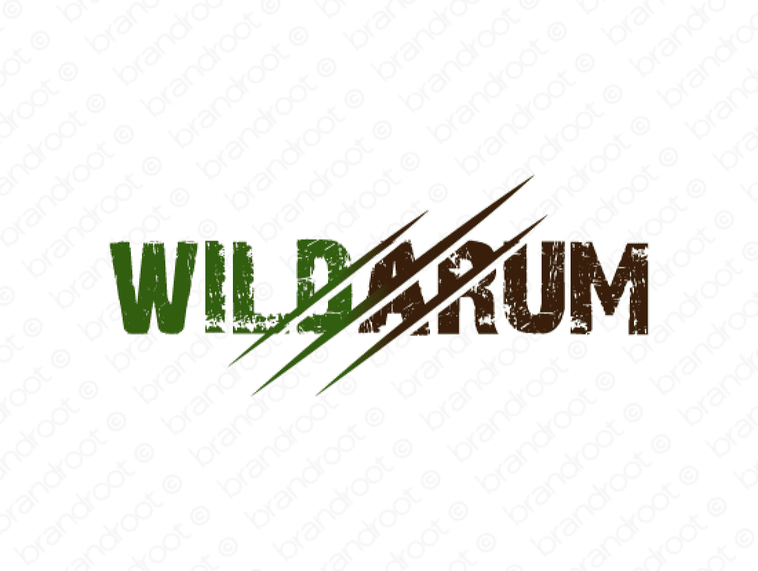 Wildarum logo design included with business name and domain name, Wildarum.com.