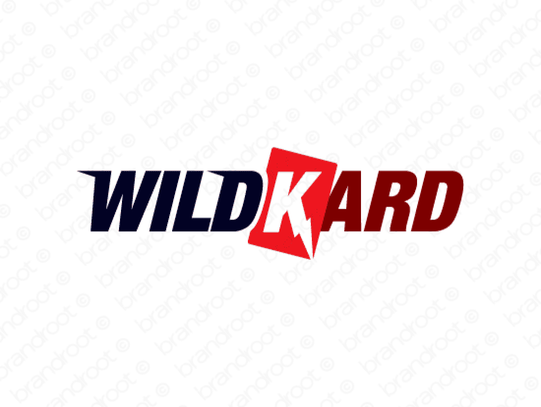 Wildkard logo design included with business name and domain name, Wildkard.com.